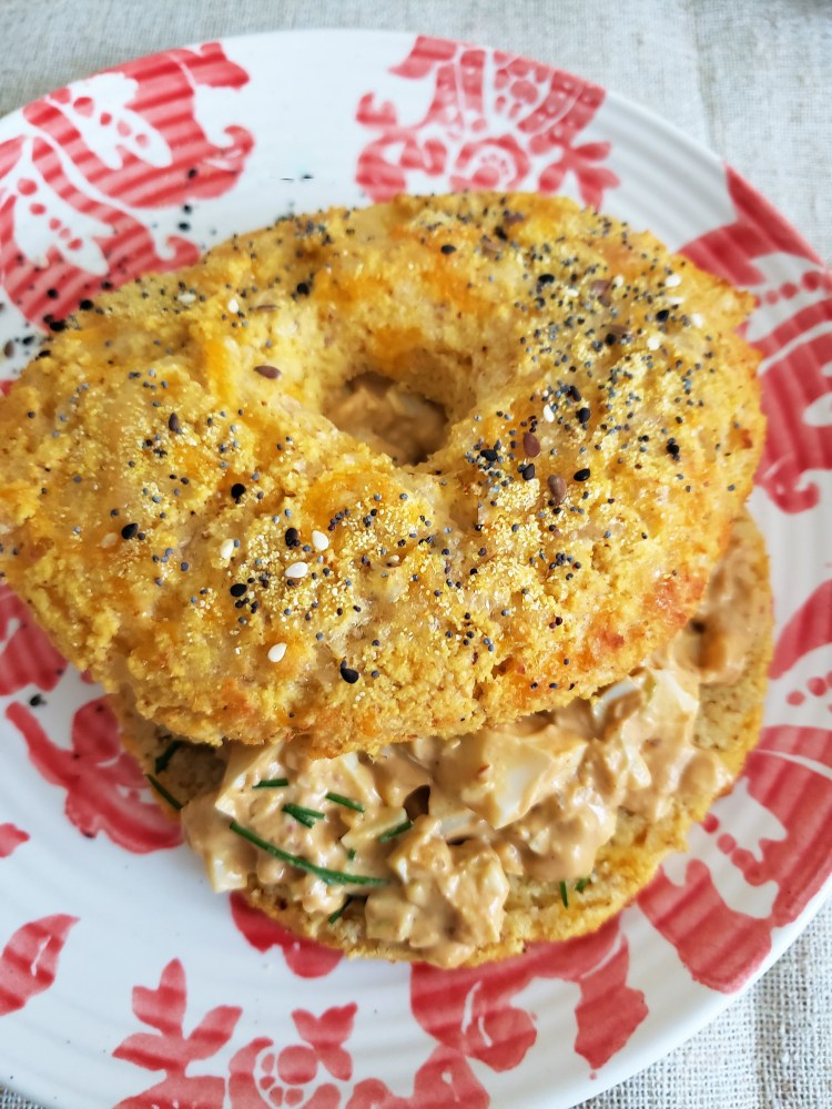 Pan de coliflor, coco y almendra