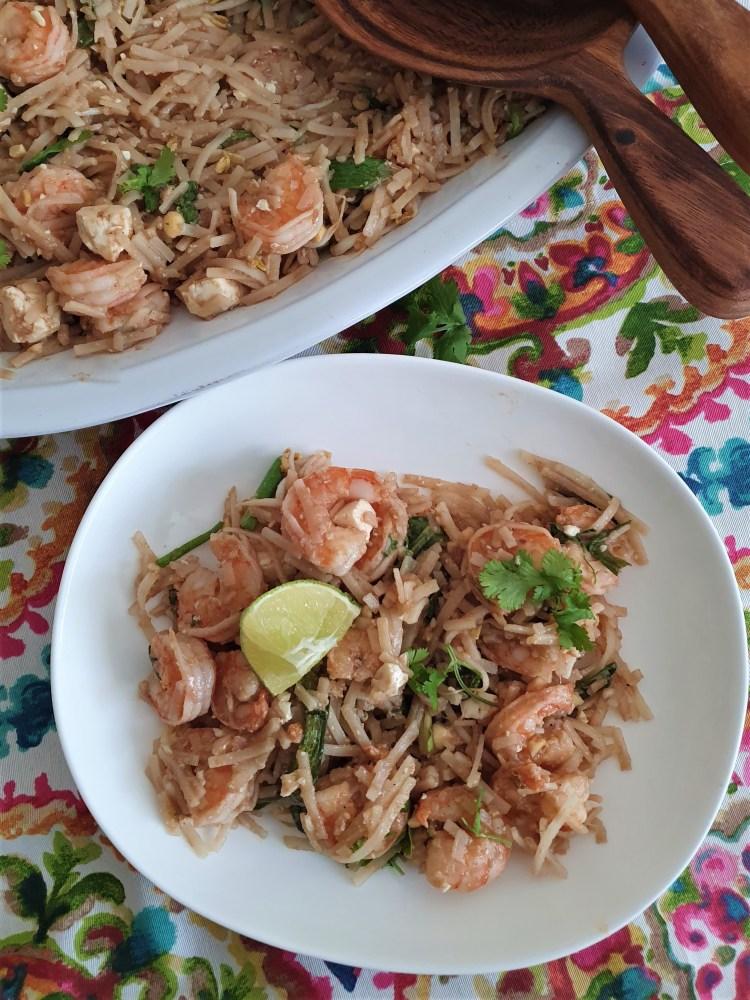 Pad thai de camarón