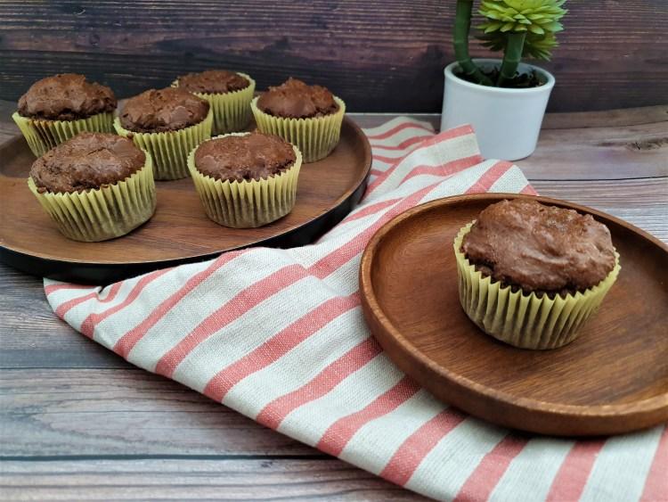 Cupcakes de chocolate sin harina