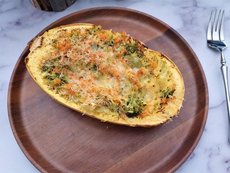 Calabaza espagheti con brócoli