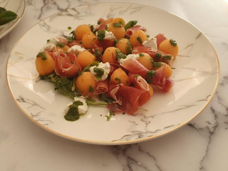 Ensalada de melón y jamón serrano