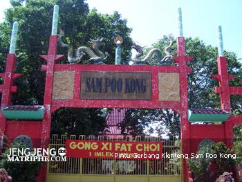 Pintu Gerbang Klenteng Sam Poo Kong