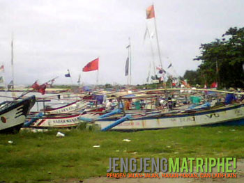 Kumpulan perahu di Ujung Genteng