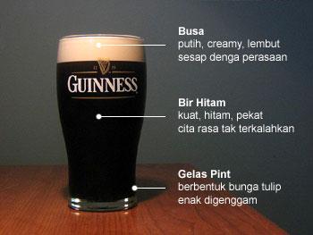 Penampilan bir Guinness