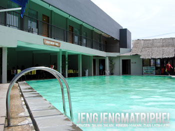 Kolam air panas Hotel Tirtagangga