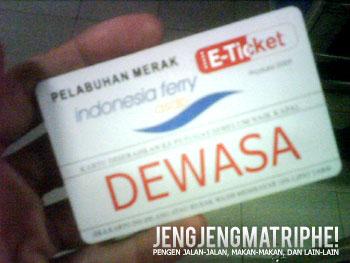 E-ticket Pelabuhan Merak
