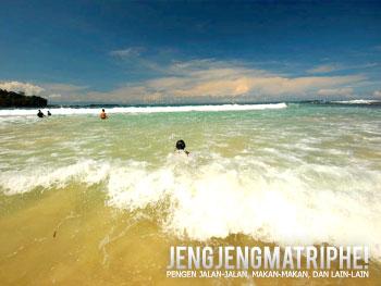 Ombak besar Pantai Lagun Pari