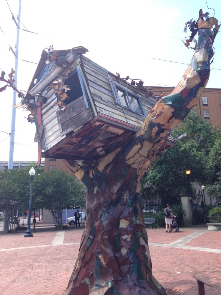 Scrap House Katrina Memorial by Sally Heller,
