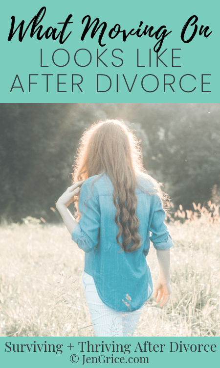 "People have said to me ""Just move on with your life!"" But what does that phrase really mean? Let me explain what moving on really looks like after divorce. via @msjengrice"