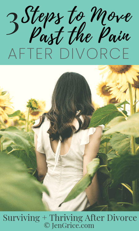 Pain is one of the hardest things to move past after divorce. But it blocks are healing and our ability to thrive after divorce. So check out these 3 steps to help you get moving in the right direction after divorce. via @msjengrice