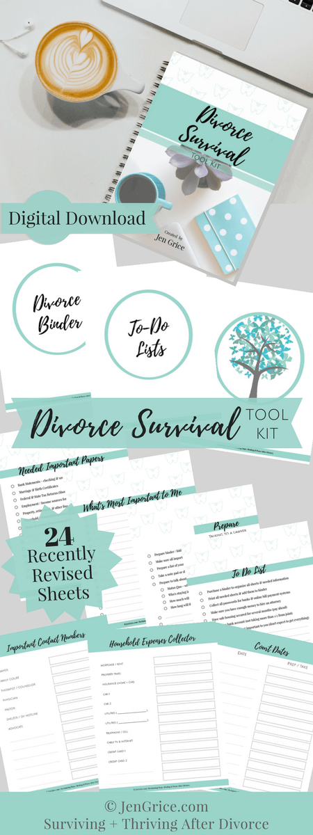 Be organized, feel confident and be prepared with this Divorce Survival Digital Tool Kit. The kit (PDF printable packet) includes every page needed to create your own Divorce Binder – a resourceful tool for surviving a divorce. via @msjengrice