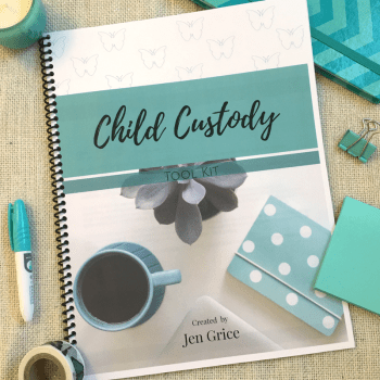 Child Custody Tool Kit (Printable Pack) | By Jen Grice
