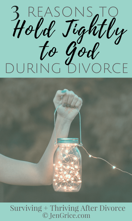 At night when all is dark, I would be anxious and be filled with fear. I'm not sure what I was scared of but the dark reminded me that I was alone, when really I wasn't. I just needed to remind myself to hold tightly to God, during divorce. His Light was always there even if I didn't see it. via @msjengrice