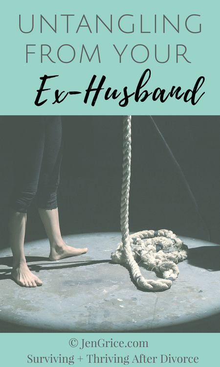Marriage connects two people and they become one. Divorce is the separation of those lives, those hearts, and the family unit. In order to heal, we must untangle from our ex-husband, renew our bond with God, and learn to complete in Him.