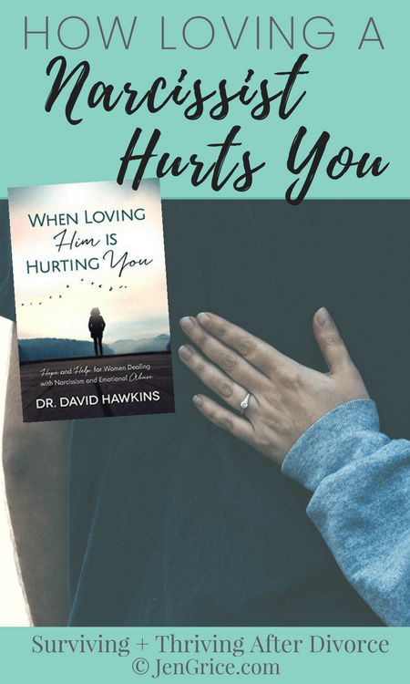Dr. David Hawkins' book, When Loving Him is Hurting You, is a great book to learn how loving a narcissist hurts you, why you feel so very alone, and how to reclaim your life before, during, or after a divorce. Healing is possible. It starts with you! via @msjengrice