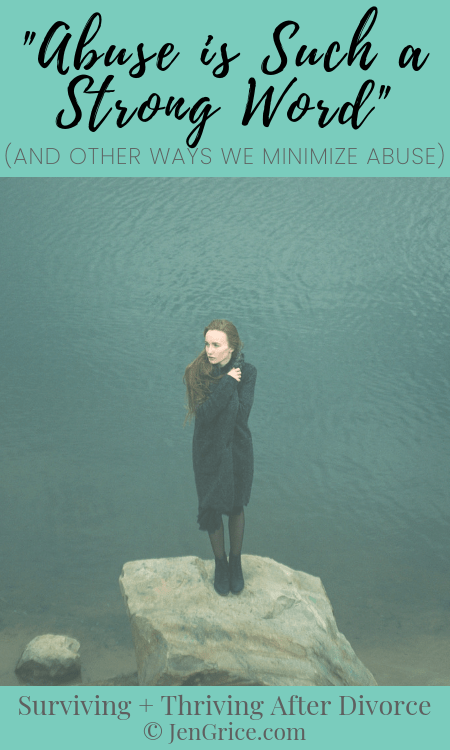 Abuse is not something to be taken lightly, but we also need to stop minimizing, blame-shifting, and justifying abuse for the abuser. Victims need us to help stop the cycle! They need to know they're not alone. via @msjengrice