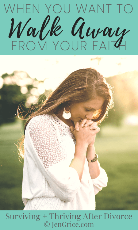 Divorce is a life-altering trial that can and will test anyone's belief in a loving father. Do you feel like you want to walk away from your faith? There is hope!