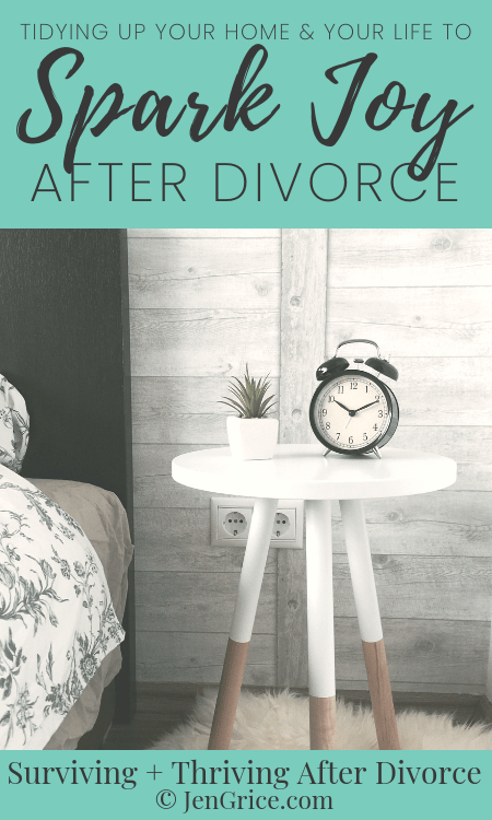 Tidying up your life, home, and mind after divorce will help you to spark joy and find peace. This is a practice of ridding yourself of the negative to make room for the positive while not just using items but appreciating them.