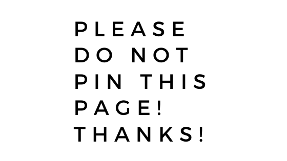 Please do NOT pin this page! Thanks! via @msjengrice