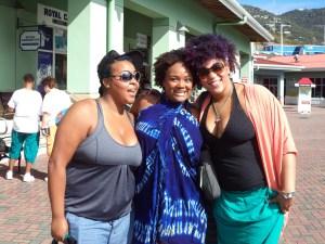 Christin (left), Jenice  and Ashley (right) of Luna Bella Make Up