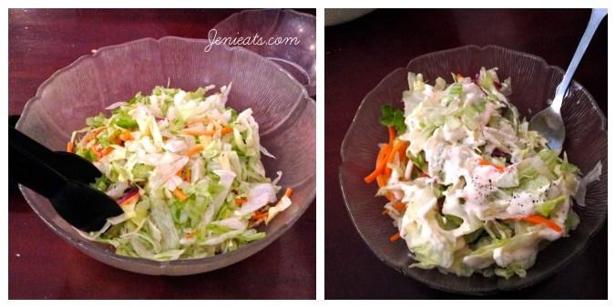 Diner Salad Collage