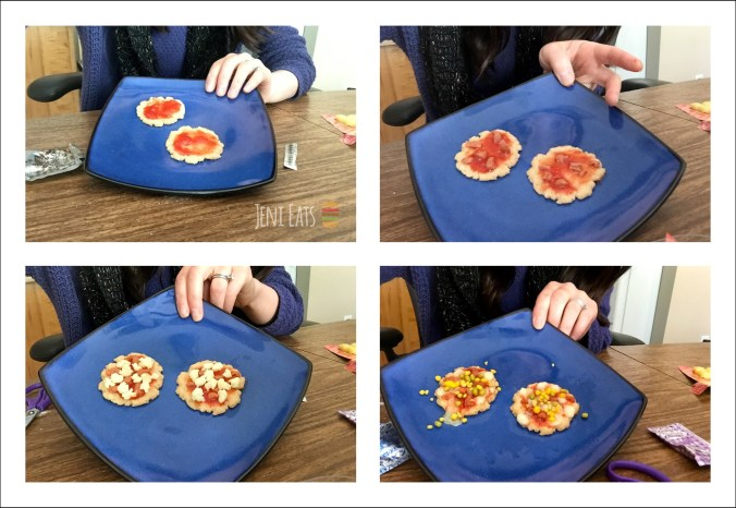 pizza assembly collage