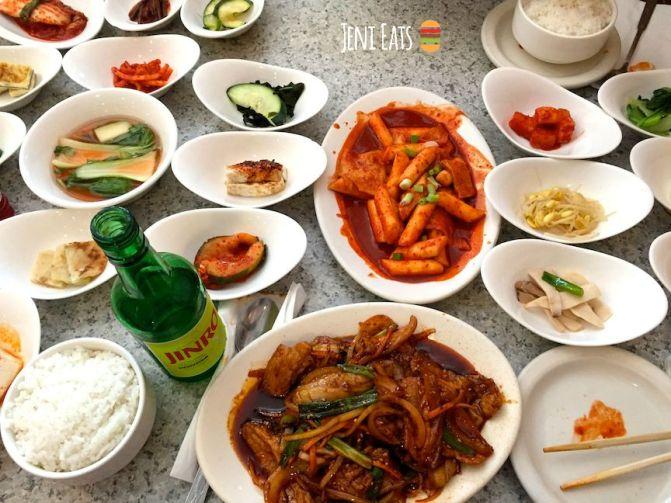 korean food spread