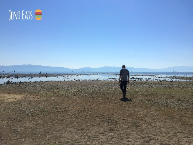 jake walking beach