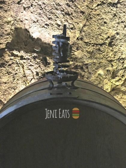 wine barrel candle