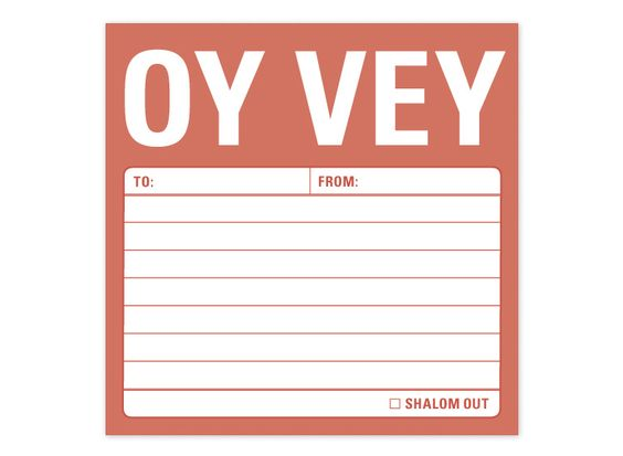 Oy Vey Post-It Notes