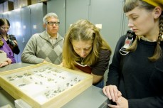 Jamie and Raina taking a closer look at some specimens.