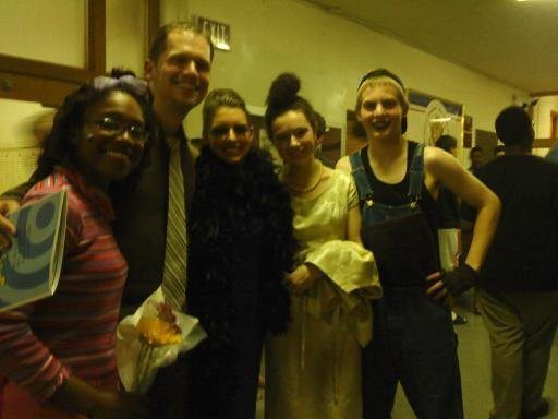 With some students following a performance of Seussical