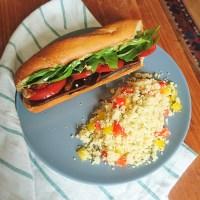 Zucchini and Mushroom Summer Sandwich