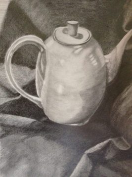 "18"" x 24"" Still-Life Graphite Drawing on Strathmore Drawing Paper"