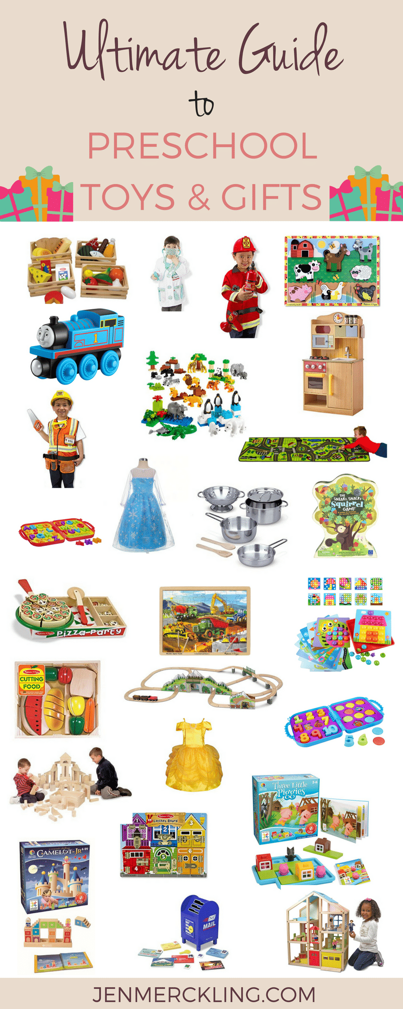 The ultimate guide to preschool toys. Find the perfect gifts to encourage imaginative play, motor skills, and cognitive development.
