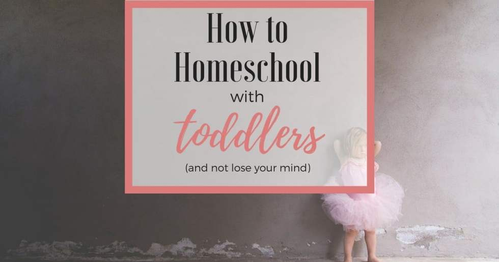 How to Homeschool With Toddlers