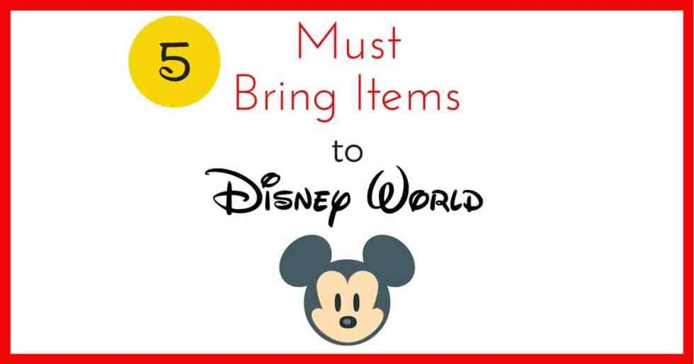 5 Must Bring Items to Disney World – Save Time and Money in the Parks!