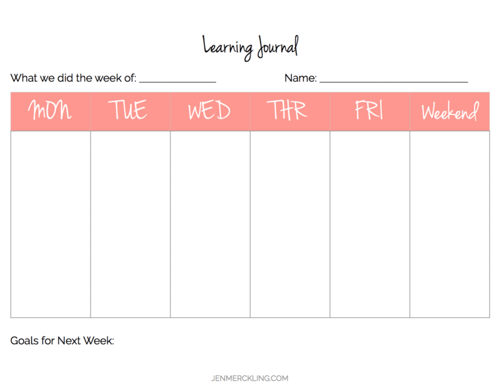 After 14 years, I've learned some simple tips for getting my home and homeschool organized, and I've created a planner to help you get organized too! Here is my Learning Journal Planning Page!