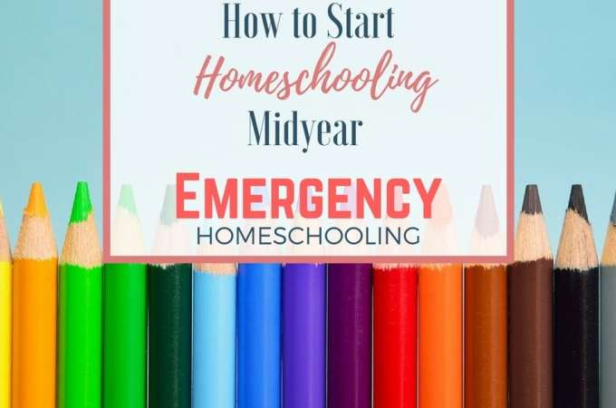 Sometimes we have to make big changes--in the middle of the school year! Here's the advice I gave a friend wondering how to start homeschooling midyear.