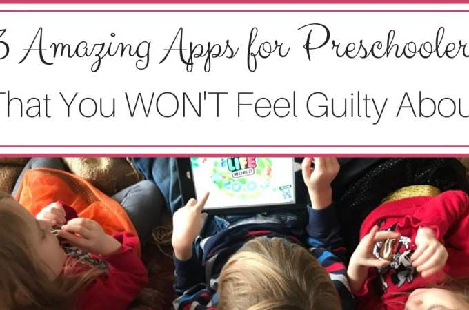 Here are 3 Amazing Apps for Preschoolers that seamlessly weave together open-ended play, preschool skills, and technology!