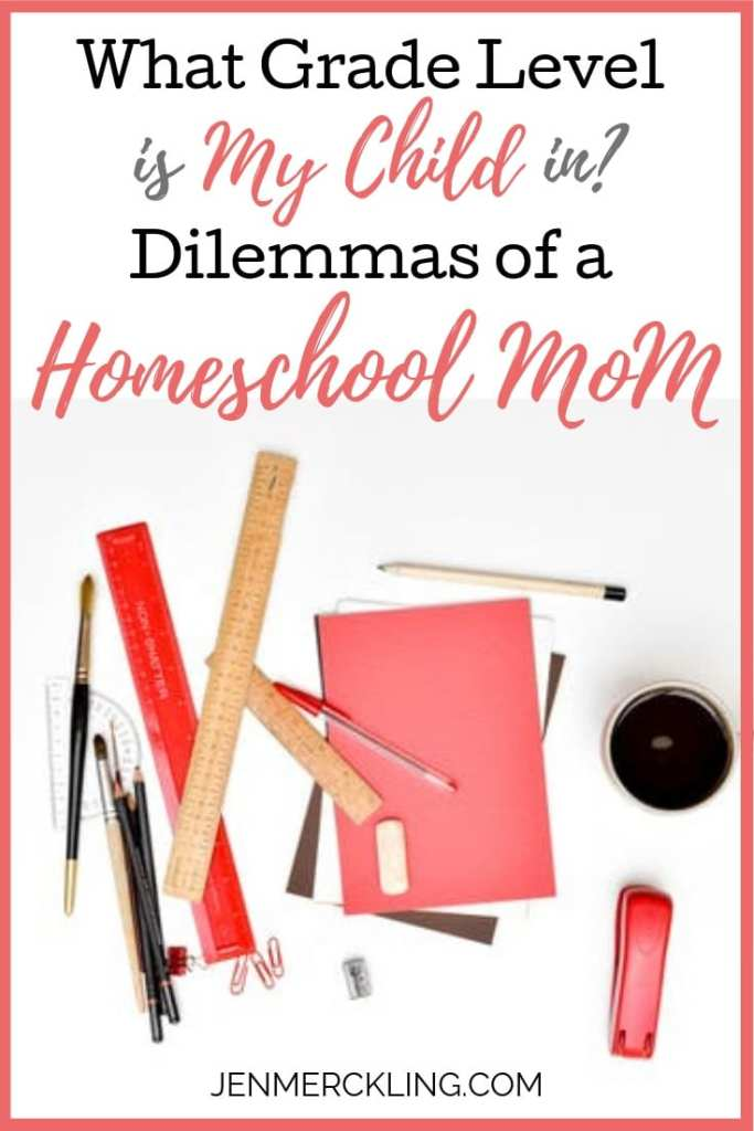 Are you struggling to figure out homeschool grade levels? It's a question many moms face: What grade level is my child in? Here's how we've handled it.