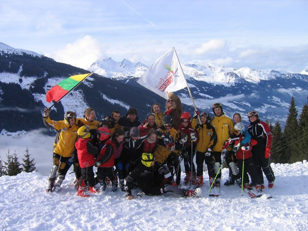 At the 2008 Lithuanian National Championships in Bad Gastein, Austria, fun was a top priority for KE skiers.