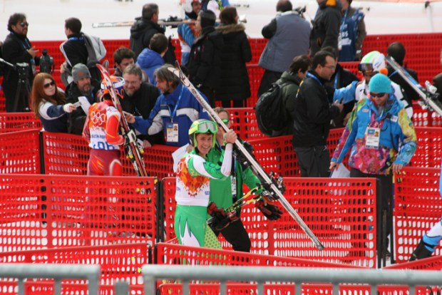 Rokas was all smiles on GS race day.