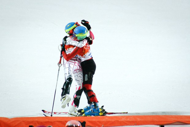 This is what the Olympics is all about: Libya congratulates Iran on surviving the slalom.