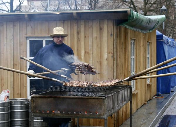 There's nothing like šašlykai grilled on pitchforks!
