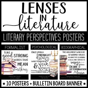 These Lenses in Literature Posters are a beautiful way to decorate your classroom with perspective-taking decor! It can be used with many classroom themes, such as literature, book, reading, travel, literary theory, cross-curricular, etc.