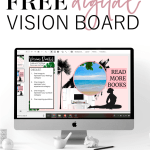 Digital vision boards are a fun and effective activity to teach goal setting to your students and encourage growth mindset. Download your free printable template with directions, lesson plans, and ideas. #goalsetting #highschool #teaching #visionboard