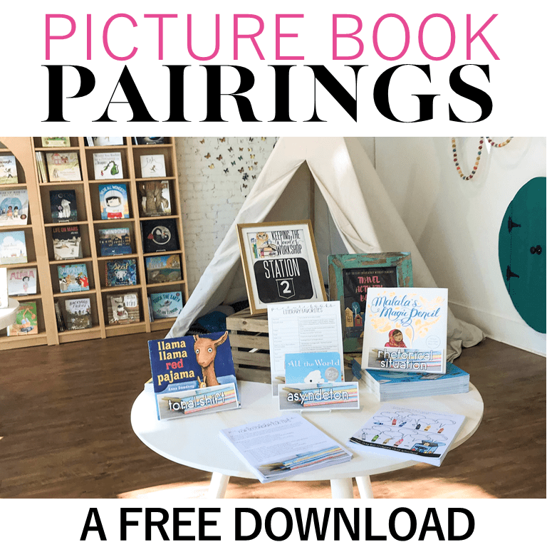 Learn how and why picture books are one of the best ways to teach older students literary analysis skills. In this post, I share the most recent research and my best activities, lesson plans, and ideas to use picture books with middle school and high school students. Plus, download a big list of the best picture books to teach literary analysis concepts and essay writing. #secondaryela #picturebooks #picturebooksforhighschool #picturebooksformiddleschool