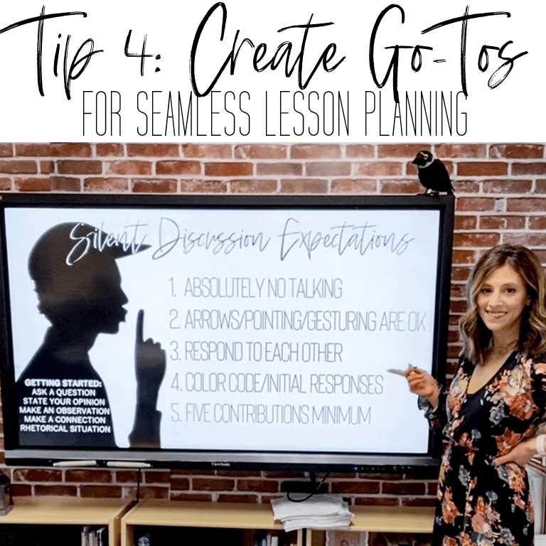 If you're a secondary pre-service teacher, a newbie hire, or a veteran teacher, check out this post that helps you create a simple, yet effective classroom management plan in your middle school or high school classroom. You'll find tips, strategies, activities, and ideas to create a proactive and positive behavior plan that prevents problems before they start. #iteachhighschool #iteachmiddleschool #secondaryteacher