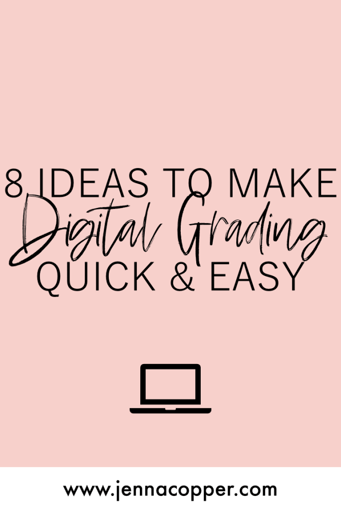 Grading essays is one of the most challenging tasks for middle and high school teachers, but there are digital grading hacks that can make grading papers and giving feedback much faster! All you need is an online system, some virtual organization, and of course, some humor! #gradingessays #englishteachers #elateacher #secondaryela